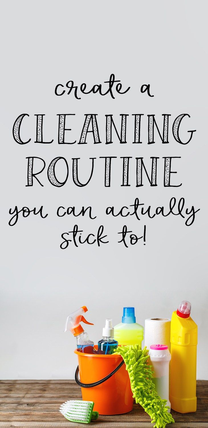 How to create a cleaning routine for your home that you can stick to! #cleaning