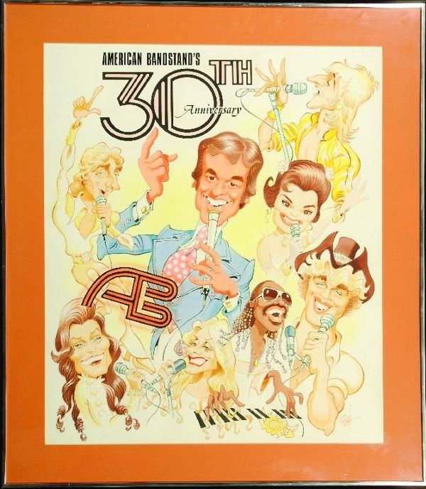 american bandstand caricature | 1436: * American Bandstand's 30th Anniversary cartoon : Lot 1436