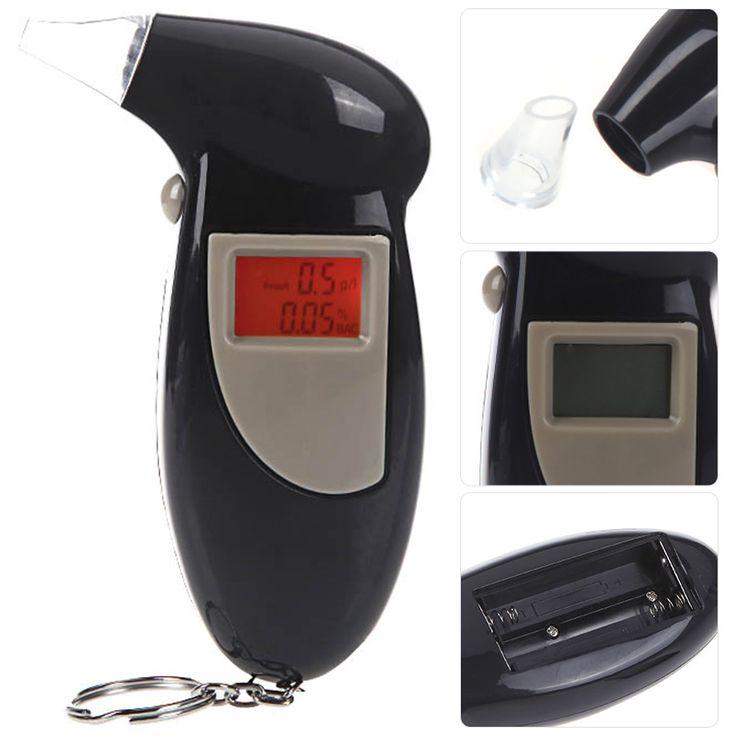 Respon cepat LCD profesional alkohol tester, Detektor alkohol Digital breathalyzer, 2016 polisi Alcotester Display Backlight