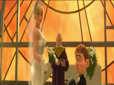 30 Day Disney Challenge, Day 5: Favorite Kiss? Definitely Calhoun and Felix's at their wedding in Wreck It Ralph. Adorable contrasting characters.