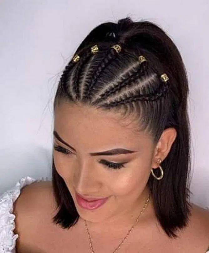 19 Braids Hairstyle & Quiffed Ponytail Hairstyle Ideas | rudsmyhome #BraidHairstyleDesignIdeas #QuiffedPonytailBeautifulBraidHairstyleDesignIdeas #BestBraidHairstyleDesignIdeas