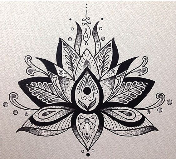 Unalome and Lotus Flower: