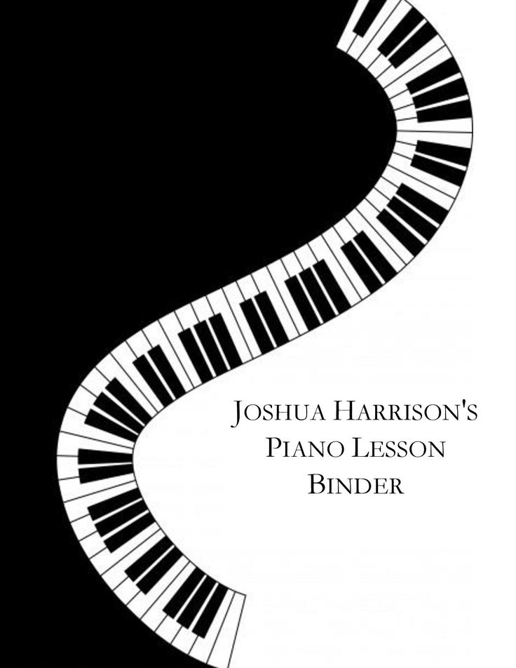 I had heard of the idea of making custom binders for my piano students, so I thought I would try to design my own.  I simply did this in a Word Document, inserted clip art and a text box and presto!  A custom binder cover!
