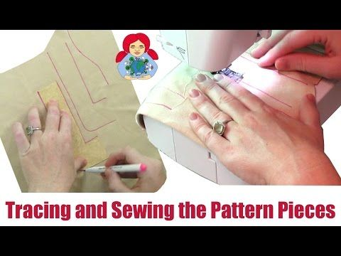 DIY   Making a Waldorf Doll: Tracing and Sewing the Pattern Pieces   Sami Doll Tutorials - YouTube