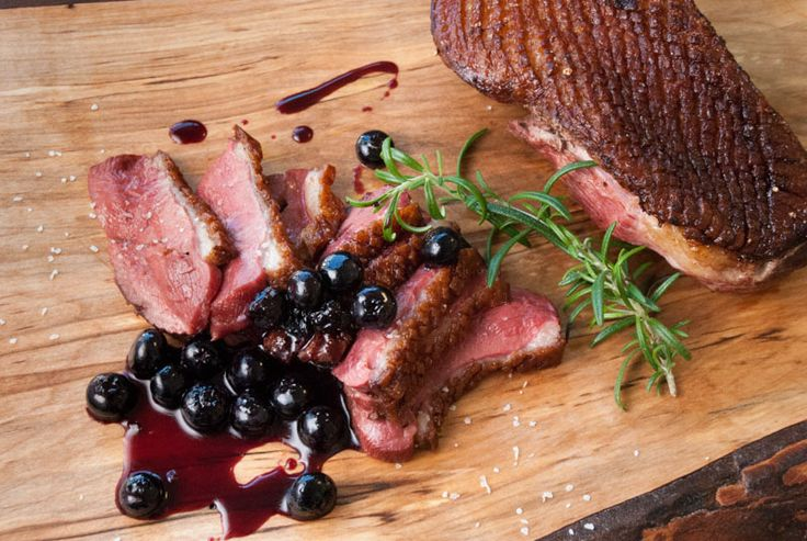 Duck with Blueberry Port Sauce