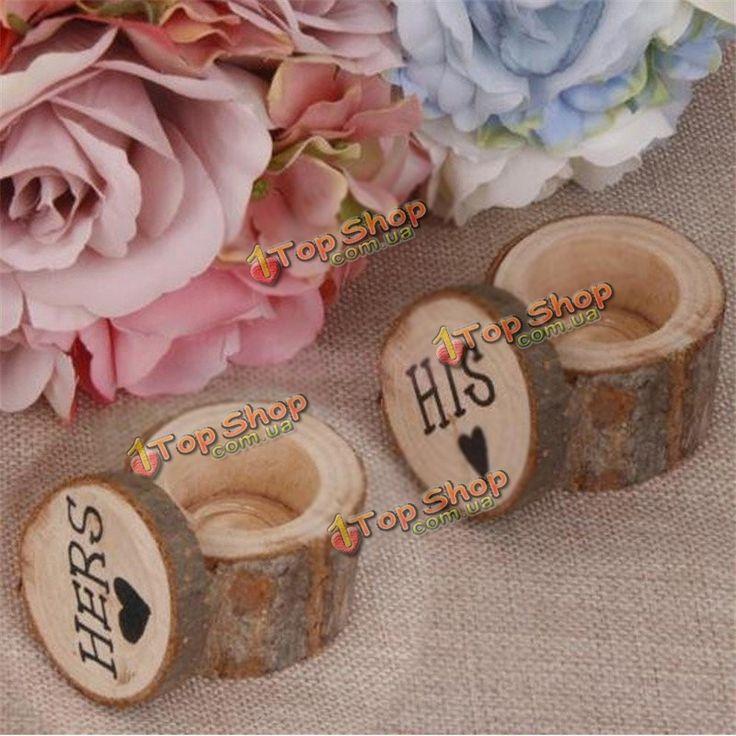 1pair держатель колье коробка кейс деревянные натуральный обручальные кольца серьги - ➊TopShop™ ➠ Товары из Китая с бесплатной доставкой в Украину! в Киеве