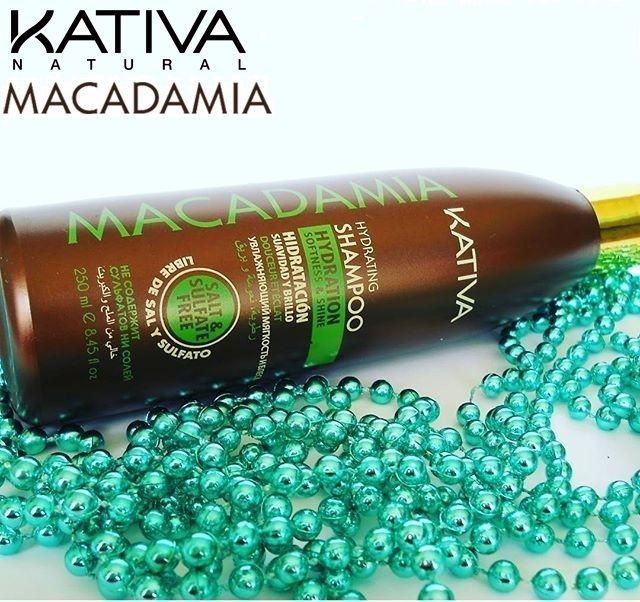 Kativa Macadamia Hydrating Shampoo. Το Σαμπουάν επιτρέπει τον απαλό καθαρισμό των μαλλιών αποτρέποντας ταυτόχρονα την ξηρότητα των μαλλιών.