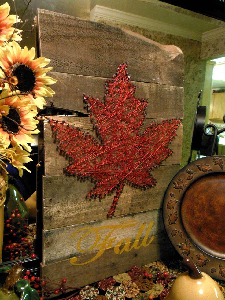 Pallets. Nails. String. Pallet Art. String Art. BrandonandJessicaFinch.blogspot.com