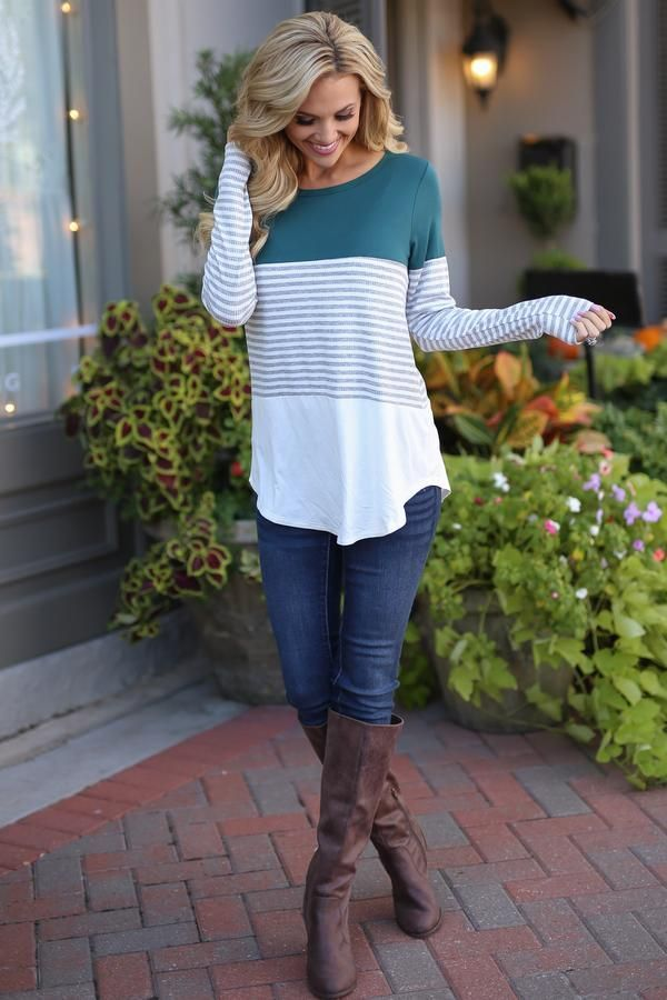 All Day Everyday Long Sleeve Top - Emerald #babywinteroutfits