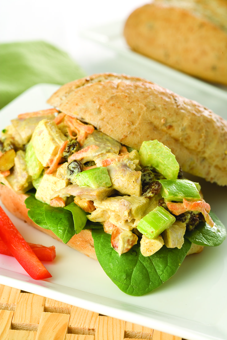 Chicken Bombay Salad in Whole Grain Rolls #SchoolYourChicken