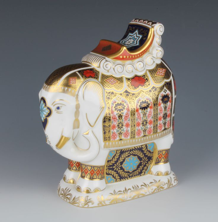 Included in or 31 January Antique & Collectors Auction is selection of Royal Crown Derby Imari pattern paperweights including lot 1 in the form of an elephant with gold stopper, with original box, this & all the others can be found on our website, live bidding available
