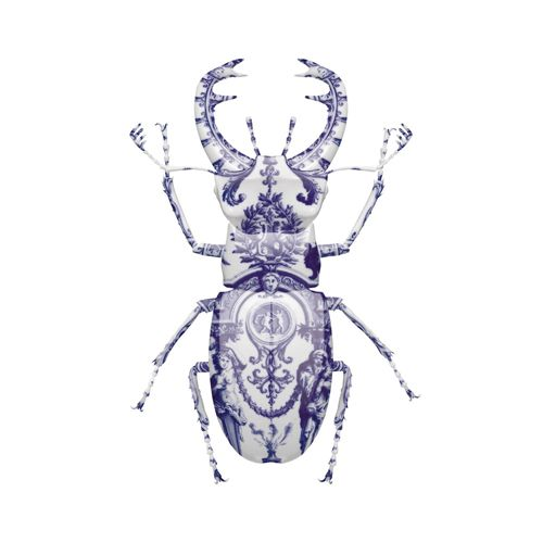 Magnus Gjoen, Delft Stag Beetle (AP) Print | Limited Edition | Hang-Up Gallery