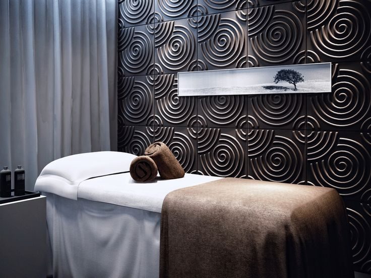 """Massage space featuring """"Ripples"""" sending positive waves to the rejuvenating vibe."""