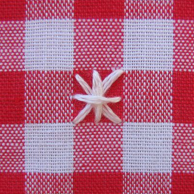 Chicken scratch embroidery (also called snowflaking, Tenneriffe lace, or Amish embroidery) is a form of cross-stitch that is done on gingham...