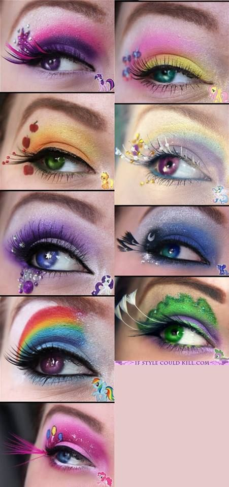Kreativ My Little Pony Makeup - meget inspirerende