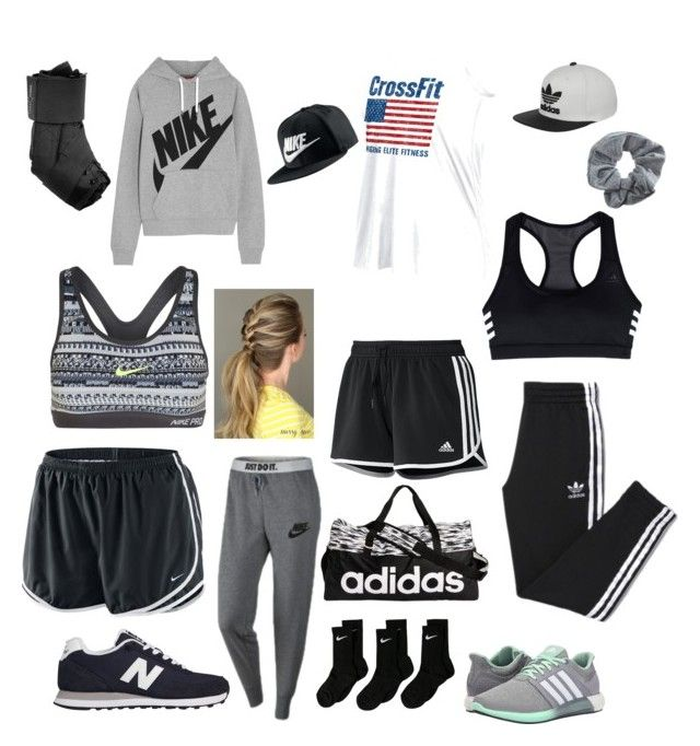 """""""Workin out"""" by siddle1230 on Polyvore featuring beauty, adidas, Reebok, Topshop, NIKE and New Balance"""