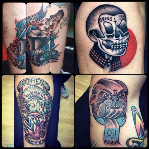 Skinhead Tattoos hechos en @secretbridgetattoo #skinhead #oi! # ...