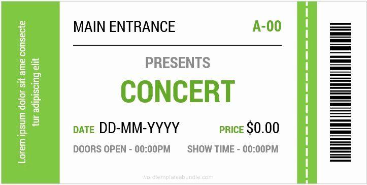 Concert Ticket Template Free Unique Concert Ticket Templates For Ms Word Ticket Template Free Concert Ticket Template Free Concert Ticket Template - ms word ticket template
