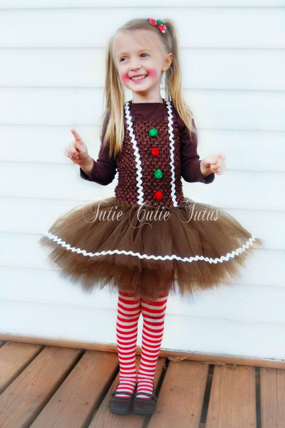 Gingerbread Girl Tutu Christmas Dress by TutieCutieTutus on Etsy