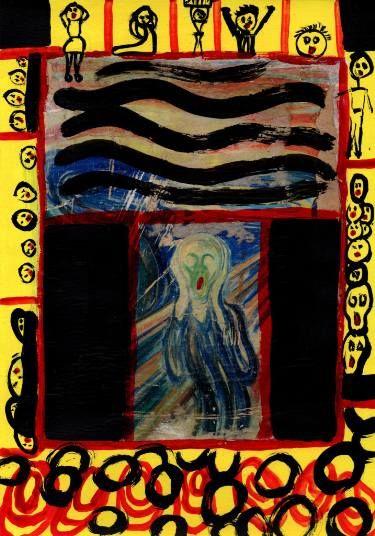 "Saatchi Art Artist CRIS ACQUA; Painting, ""6- Sombras. Del grito."" #art"