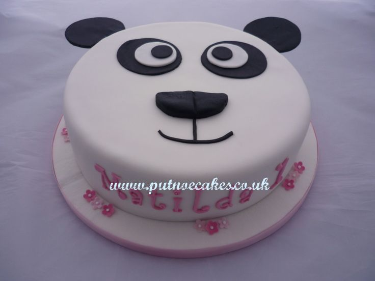 This Panda face cake was made for a little girl's first birthday, I think it's rather sweet.