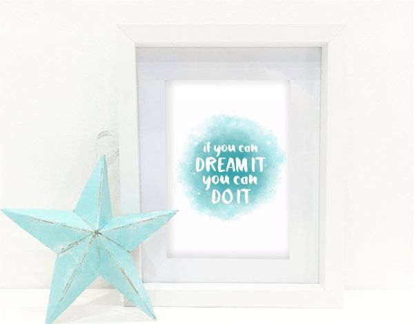 Instant Download printable - If you can dream it by MyCosmicShop on Etsy