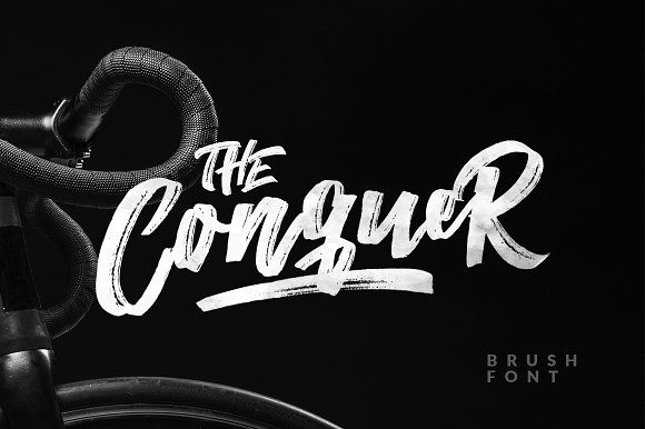 The Conquer Brush Typeface by Dirtyline Studio on @creativemarket