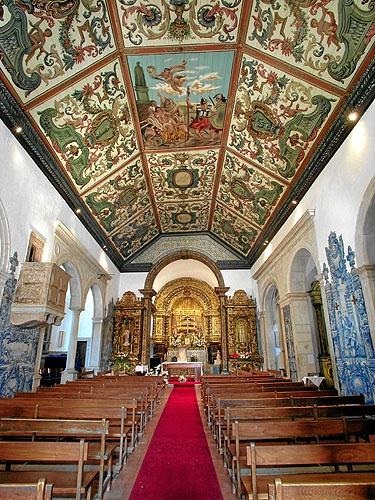 Interior da Igreja Matriz de Alhos Vedros - Moita - Portugal