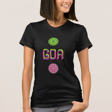 Pink green Psychedelic Goa tee-shirt T-Shirt - click to get yours right now!