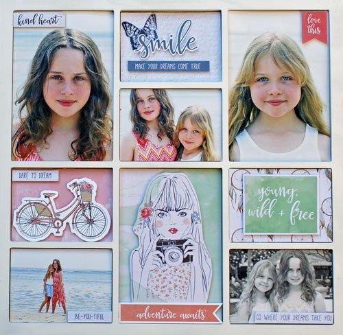 Boho Decor DT Group Post – Kaisercraft Official Blog 'Smile - Make Your Dreams Come True' Photo Art by Sonia Thomason using 'Boho Dreams' collection.