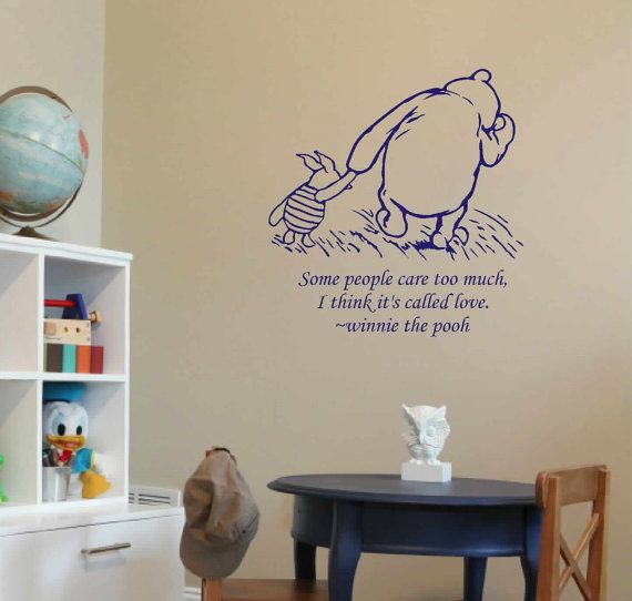 Classic winnie the pooh wall decal pooh and piglet for Classic pooh wall mural
