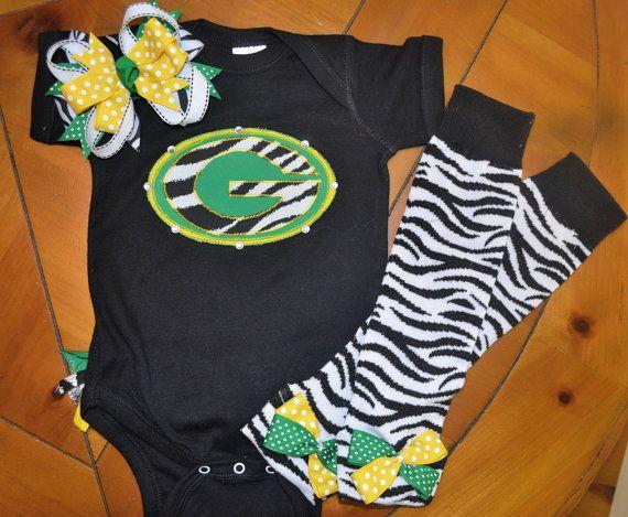 Green Bay Packer Baby Girl Set My Girls Packers Baby Baby
