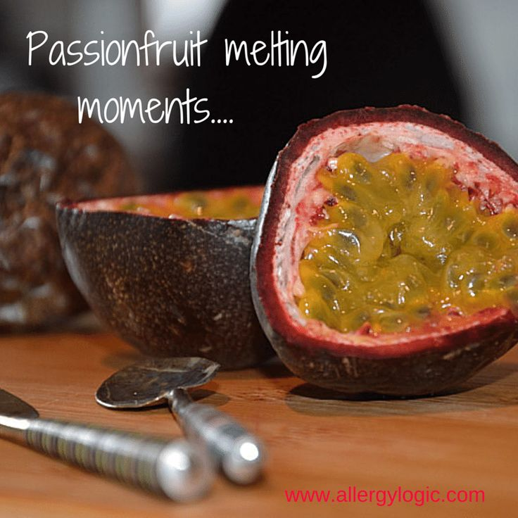 Allergy free baking - Passionfruit Melting Moments - dairy, egg, peanut and nut free