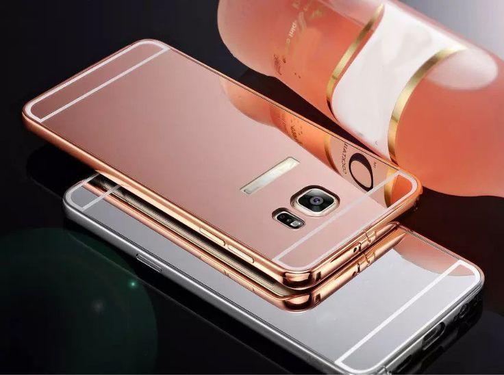 Luxury Aluminum Bumper&Mirror Hard Back Case For Samsung Galaxy S6 Edge Plus