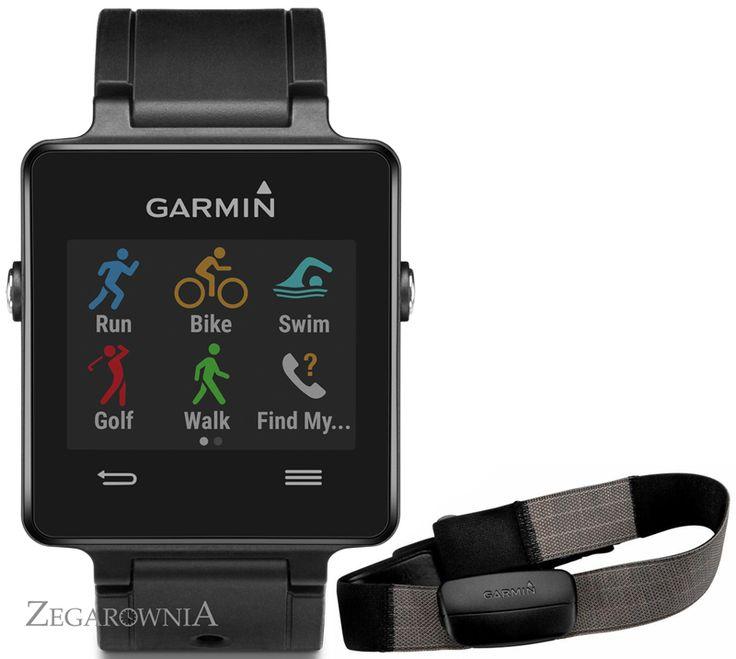ZEGAREK GARMIN VIVOACTIVE + PAS HRM http://zegarownia.pl/zegarek-garmin-vivoactive-010-01297-10