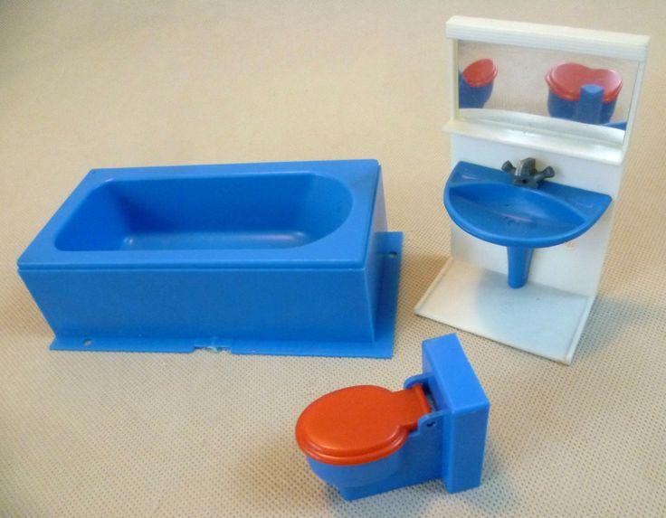 Vintage Dolls House -Toy Works/Modella My First Home Bathroom Set W Germany 1981 | eBay