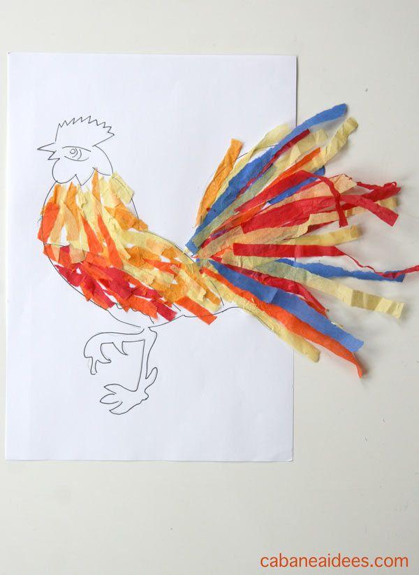 Art Spécial Nouvel An Chinois : le coq papier de soie -Vous en avez déjà fabriqué?