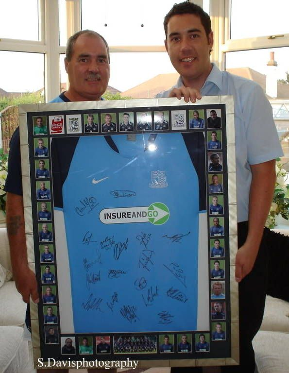 Competition winner League 1 framed shirt when Steve Tilson was Manager (2013 Meet the Blues Day)