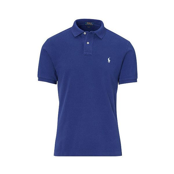 Polo Ralph Lauren Custom Slim Weathered Polo (127 970 LBP) ❤ liked on Polyvore featuring men's fashion, men's clothing, men's shirts, men's polos, mens classic fit shirts, mens short sleeve shirts, polo ralph lauren mens shirts, mens slim fit shirts and mens embroidered shirts