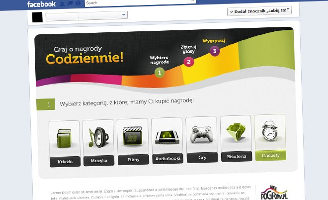 Pogryw: Choose and win the award - Jamel Interactive interactive agency Gdansk, Tricity