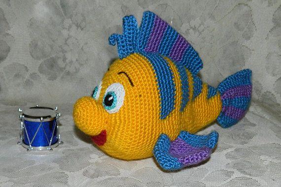 Häkelanleitung. Flunder Fisch von InspiredCrochetToys auf Etsy
