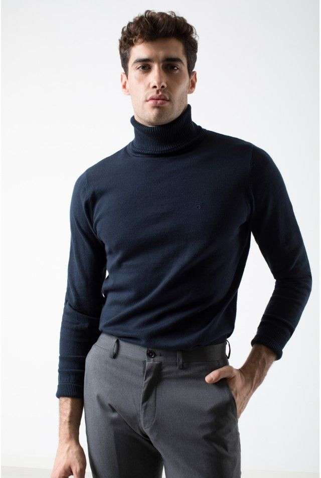 Resultado De Imagen De Cuello Alto Sweaters Men Sweater Fashion