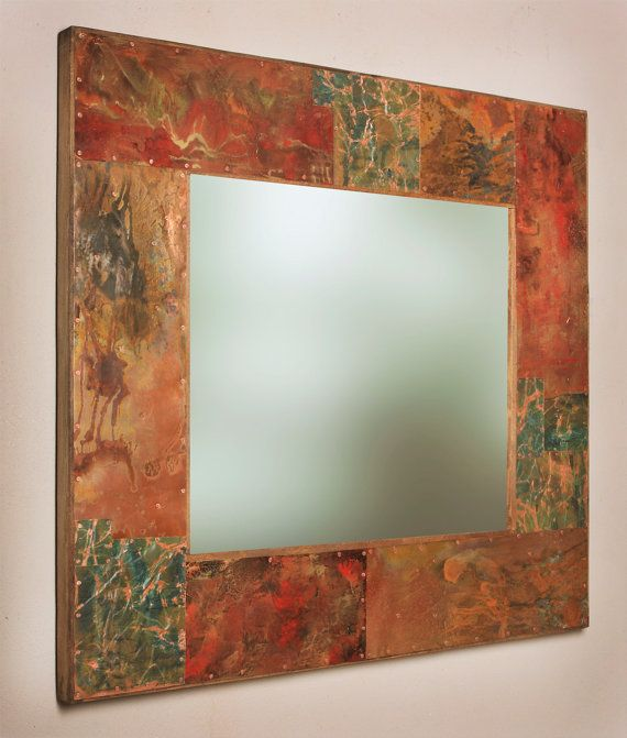 Really Cool Copper Framed Mirror For Copper Vanity Powder