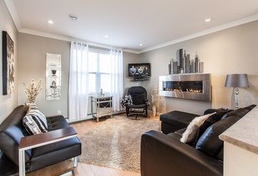 My Houzz  Open Concept Apartment Above Retail In Downtown St : Houzz Small Modern Living Room