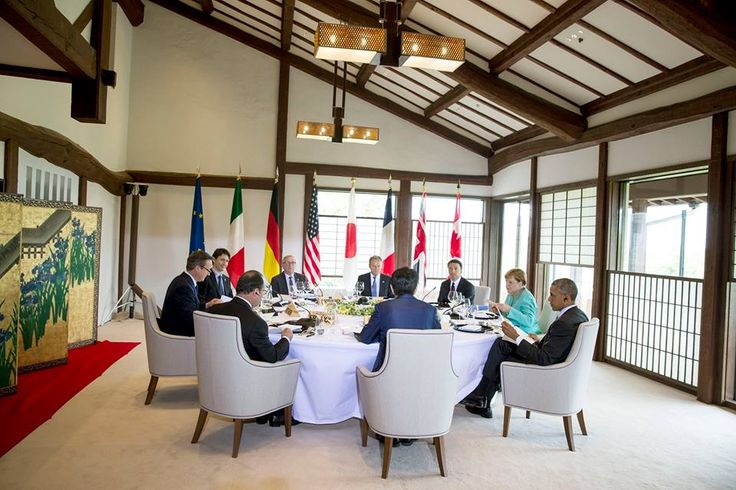 President Barack Obama participates in the G7 Summit Session One: Working Lunch, at the Shima Kanko Hotel, The Classic, in Shima City, Japan, May 26, 2016. (Official White House Photo by Pete