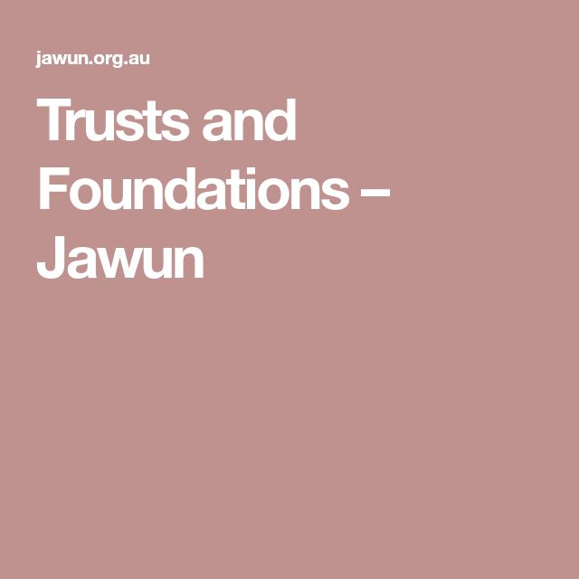 Trusts and Foundations – Jawun