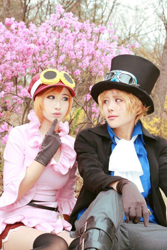Koala & Sabo   One Piece #anime #cosplay http://www.trustedeal.com/one-piece-koala-cosplay-costume.html