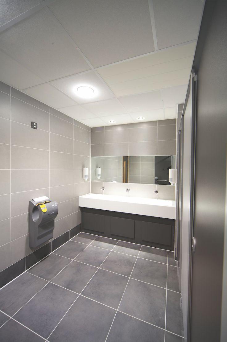 67 best office projects images on pinterest for Commercial office bathroom ideas