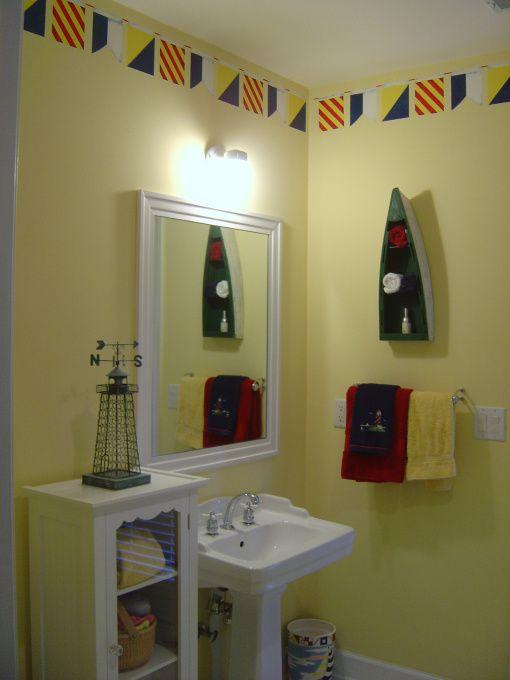 Gallery One  best Nautical Decor Ideas images on Pinterest Bathroom ideas Kid bathrooms and Beach bathrooms