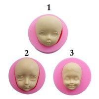 Home | Baby Face Q Version Of Face Moulds Flexible Silicone Soap Mold Candle Polymer Clay Molds DIY Cake Chocolate Decor Candy Cookie Pudding Mould Baking Tool